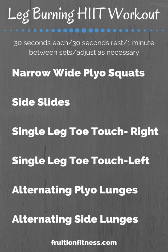 Leg Burning HIIT