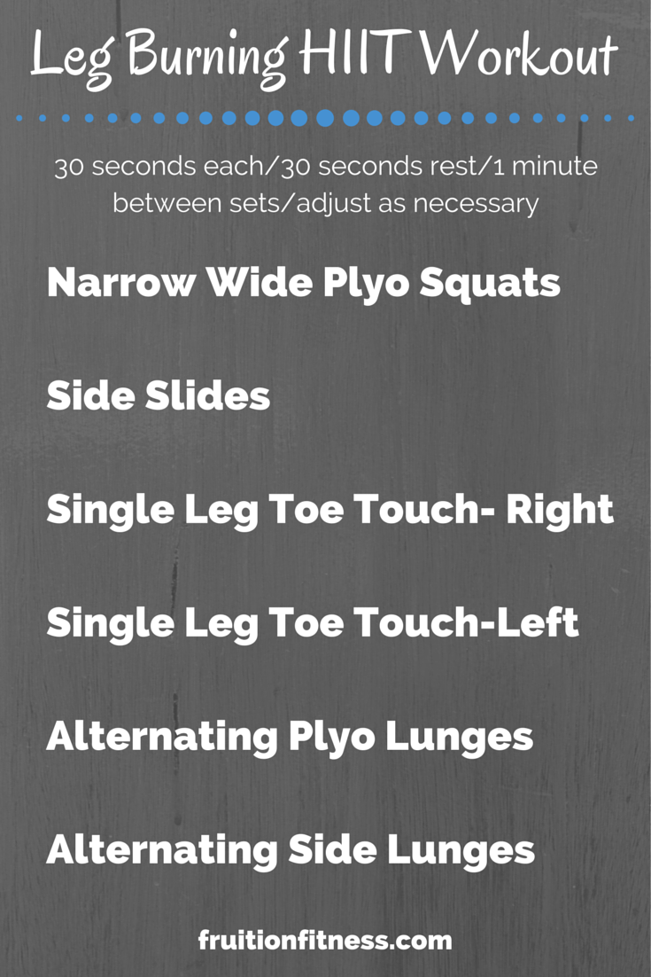 Leg Burning HIIT Workout