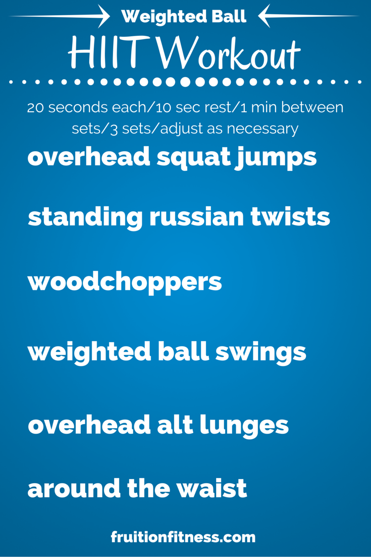 Body Burning Weighted Ball HIIT Workout