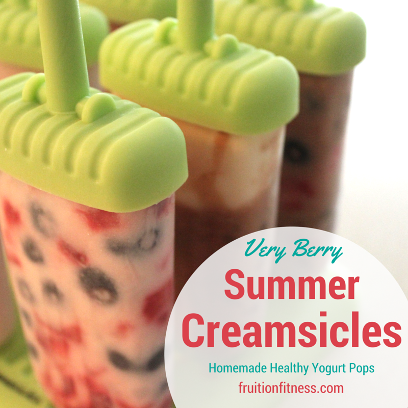 Very Berry Summer Creamsicles- Yogurt Pops