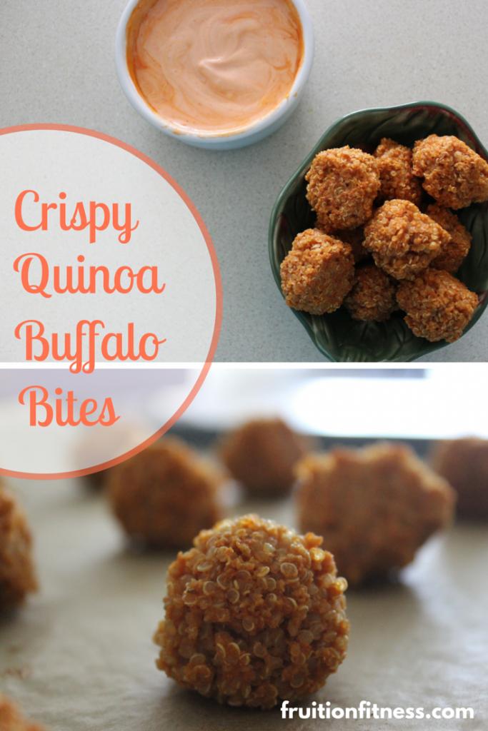 Crispy Quinoa Buffalo Bites