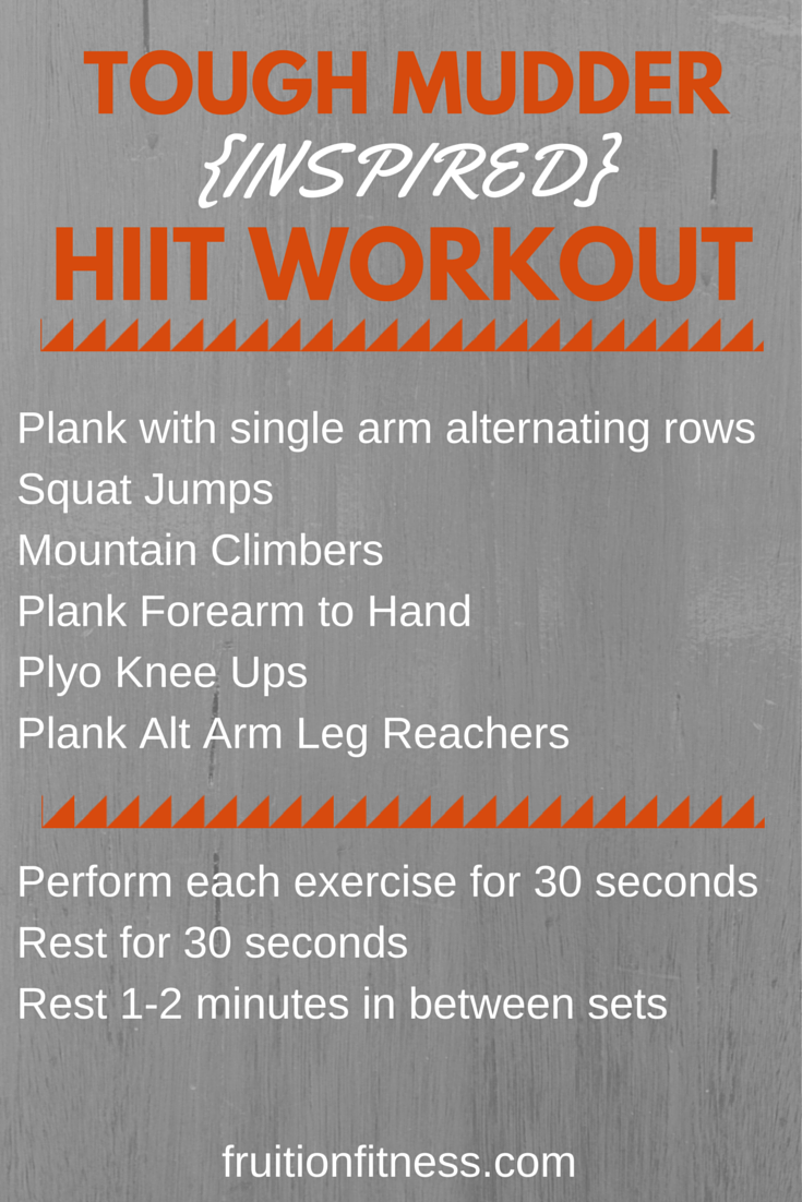 Tough Mudder Inspired at Home HIIT Workout