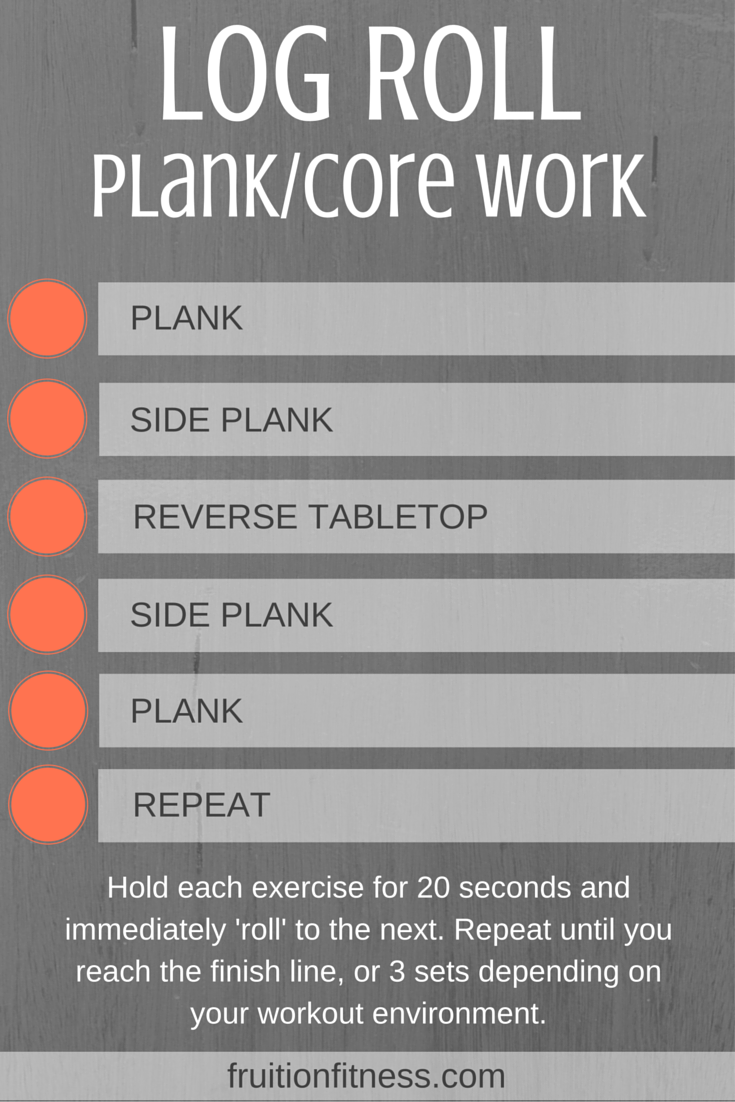 Log Roll Plank/Core Work