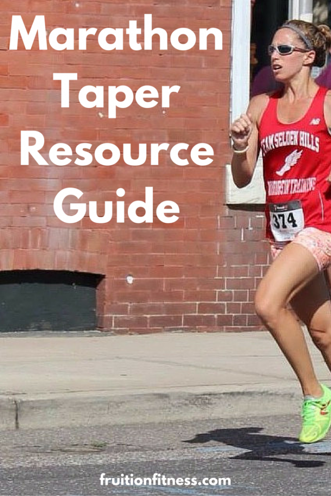 Marathon Taper Resource Guide