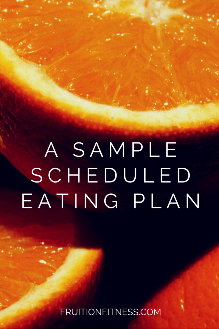 Scheduled Eating Plan