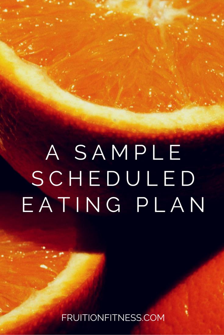 Scheduled Eating Plan