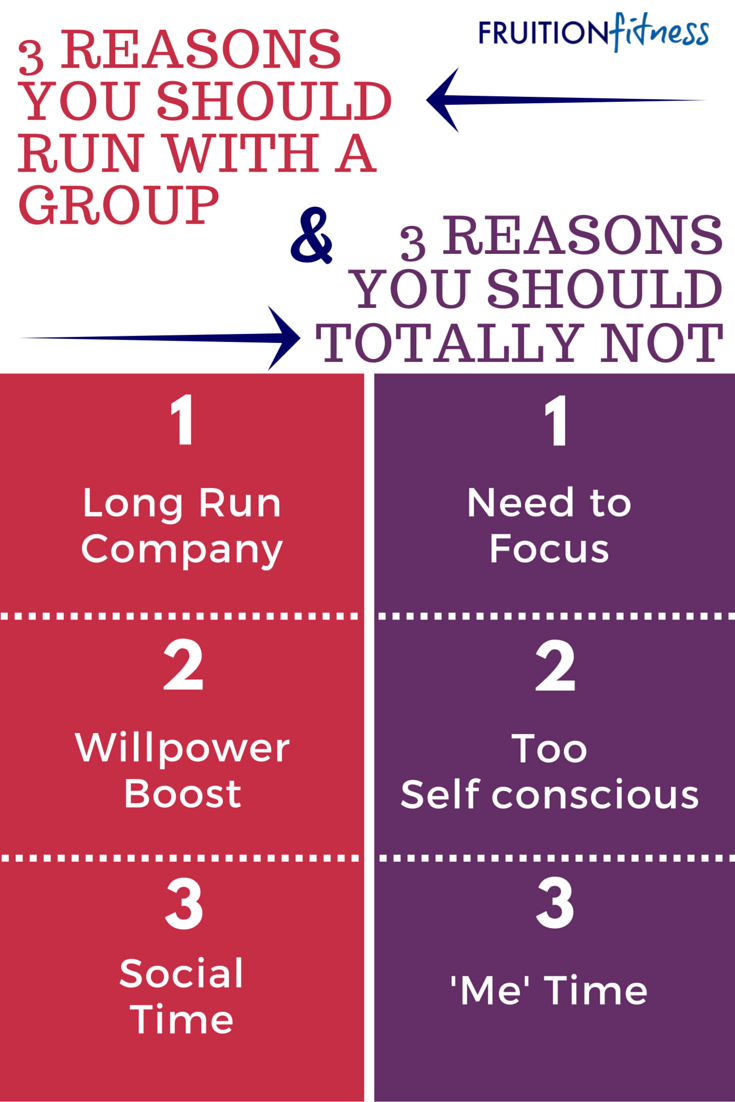 3 Reasons You Should Run With a Group + 3 Reasons You Should Totally Not