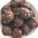 3 Ingredient Dark Chocolate Protein Bites