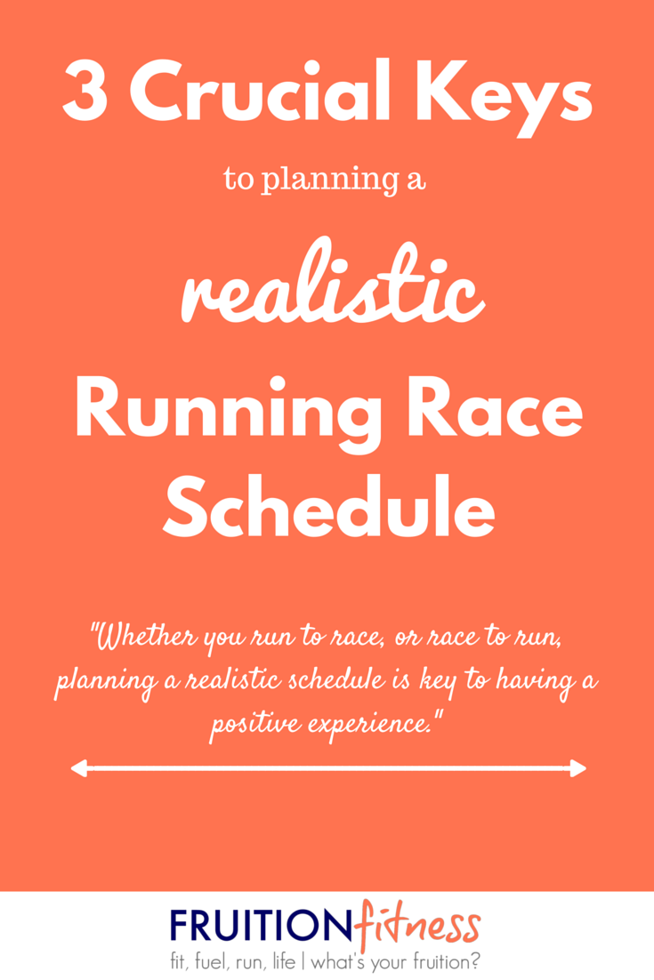 3 Crucial Keys to Planning a Realistic Race Schedule