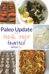 Paleo Meal Prep Update