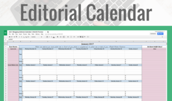 Google Sheets Blogging Editorial Calendar