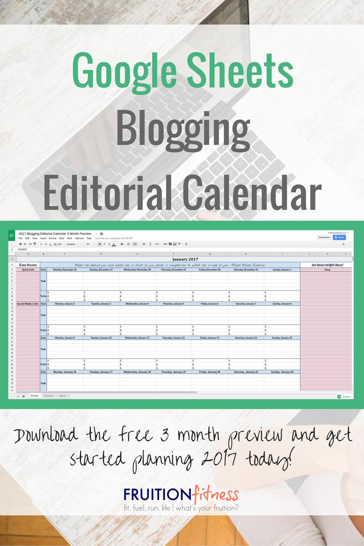 Calendar Google Sheets : Google sheets ging editorial calendar fruition fitness