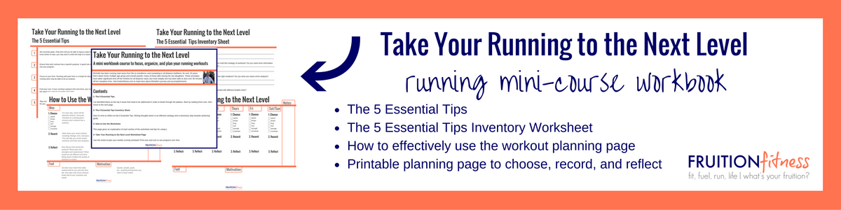 Take Your Running to the Next Level Full Workbook - Fruition Fitness